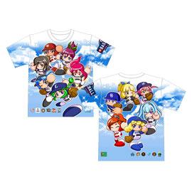 12球団パワプロ女子 Tシャツ