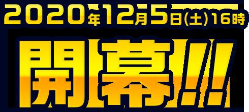 2020年12月5日(土)16時開幕!!